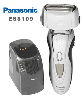 Lithium Ion Battery >> Panasonic ES8109 Wet Dry Self-Cleaning Shaver